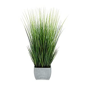 House of Silk Flowers Artificial 44-inch Grass in Large Rectangle Zinc (Farmhouse)