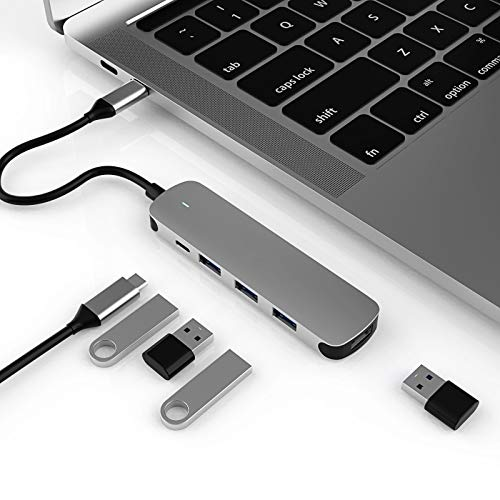 OANCO 5-in-1 USB C Docking Stations Hub Multiport Adapter, Type C, 5Gbps? 4 * USB 3.0,for MacBook Pro, Switch More Type C