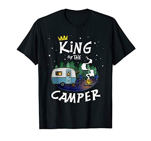 Der Camping König T-Shirt für Wohnwagen und Campingplatz T-Shirt