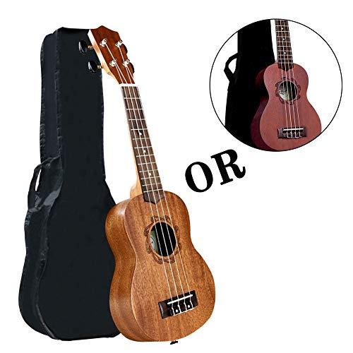 Soprano Ukulele Mahogany 21 inch Hawaiian Ukelele 4-String kids Guitar for Kids Beginners Adults Student with Gig Bag