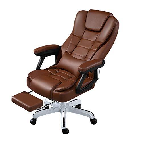 FENGLI - Silla de oficina de masaje ergonómica con reposabrazos y reposapiés, altura ajustable 145 grados; reclinable y 360 grados; giratorio giratorio, silla ejecutiva con soporte lumbar