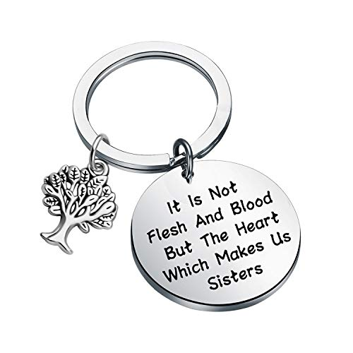 LQRI Sister in Law Gift Unbiological Sister Keychain Gift It