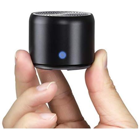 【改善版 旅行用EVAケース付き】EWA A106 ポータブル ミニ ワイヤレス Bluetooth スピーカー 【12時間連続再生/IP67防水規格/超小型/コンパクト/パッシブラジエータ搭載/強化された低音/車載、風呂用 / メーカー1年保証付き / 多言語取扱説明書】(ブラック)