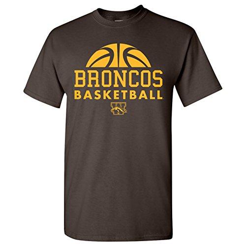 NCAA Basketball Hype Logo, Team Color T-Shirt, College, University - Braun - Mittel