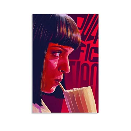 Pulp Fiction Filmposter HD1, Leinwand-Kunst-Poster und Wand-Kunstdruck, modernes Familienschlafzimmerdekor, 50 x 75 cm