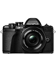 Olympus OM-D E-M10 Mark III Mirrorless Micro Four Thirds Digital Camera with 14-42mm EZ Lens & 16GB SDHC Card (Black) (Black)
