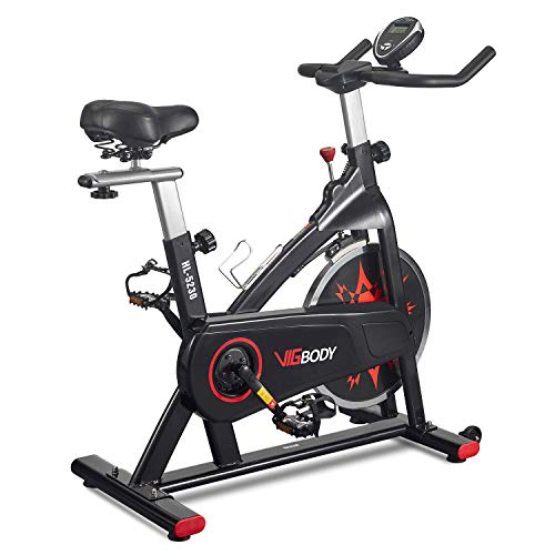 VIGBODY Exercise Bike Indoor Cycling Bike Peloton Bicycle for Home Gym Workout Fitness Equipment Stationary Trainer Bikes Upright Bike