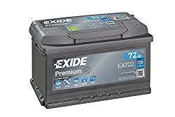 Exide EA722 Premium Carbon Boost Car Battery 12V 72Ah 720A