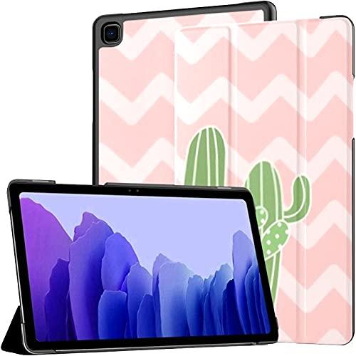 Funda para Samsung Galaxy Tab A7 Tableta de 10,4 Pulgadas 2020 (sm-t500 / t505 / t507), Linda Mezcla de Cactus en la Cubierta del Soporte de múltiples ángulos con activación/suspensión automática