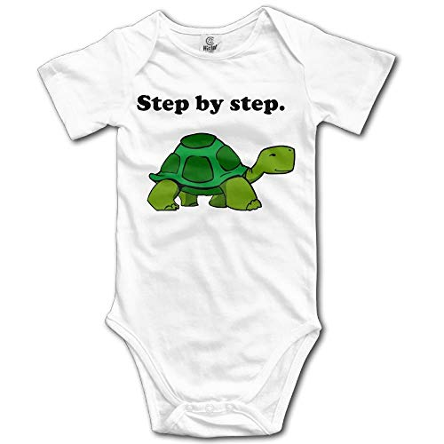 ZMYGH Step by Step Turtle Boy's & Girl's Short Sleeve Jumpsuit Outfits White 0-3m