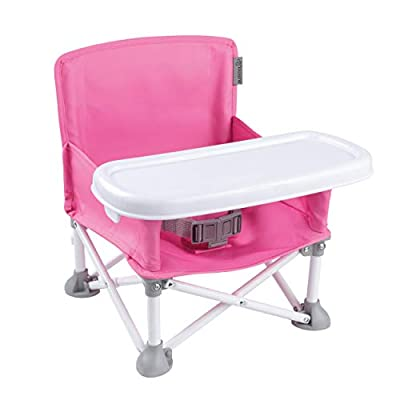 Summer Pop 'n Sit Portable Booster Chair, Pink – Booster Seat for Indoor/Outdoor Use – Fast, Easy and Compact Fold