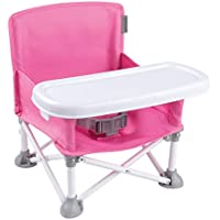 Summer Pop n Sit Portable Booster Chair for Indoor/Outdoor Use (Pink)