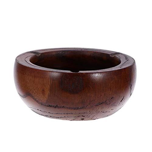 JINSUO Yiyuntian Ashtray-Ashtray Tabletop Round Solid Wood Creative Smoking Ashtray for Home (Color : 1)