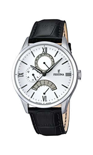 Festina Herren-Armbanduhr Analog Quarz Leder F16823/1