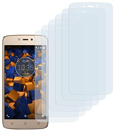 mumbi Schutzfolie kompatibel mit Lenovo Moto C Plus Folie klar, Bildschirmschutzfolie (6X)