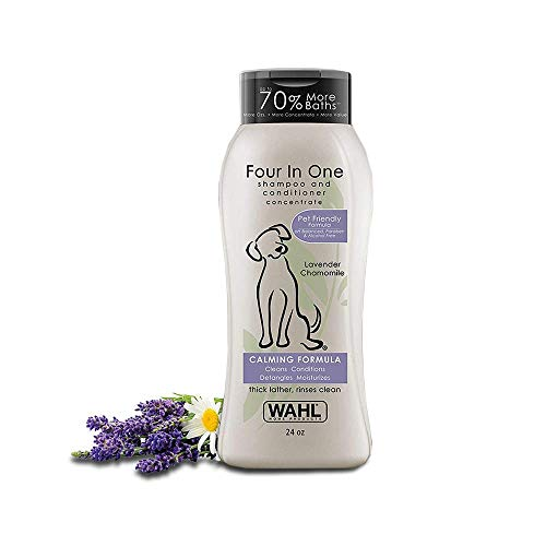 Wahl 4-In-1 Calming Pet Shampoo – Cleans, Conditions, Detangles...