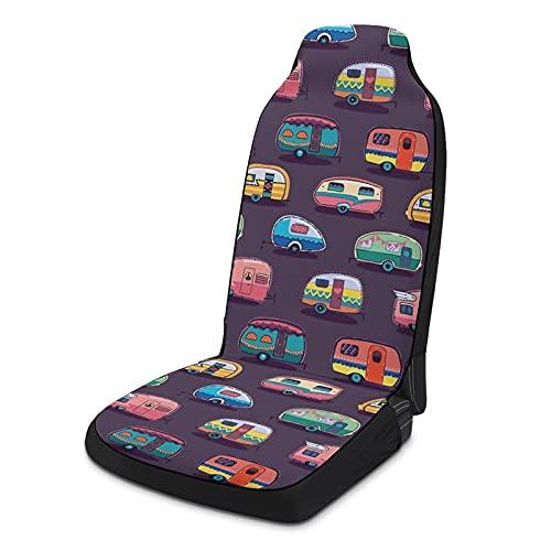 Fundas de asiento de coche suaves para mujeres y hombres, paquete de 2, protectores de asiento universales duraderos para decoración de interiores para SUV, sedanes, camiones, furgonetas, etc