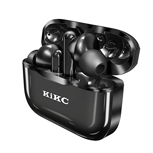 Wireless Bluetooth Earbuds with Mic, in-Ear Earbuds with Microphone for Sport and Workout, Bluetooth Headphones with Charging Case