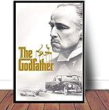 QIANLIYAN Plakate und Drucke Der Pate Poster Film Wandkunst