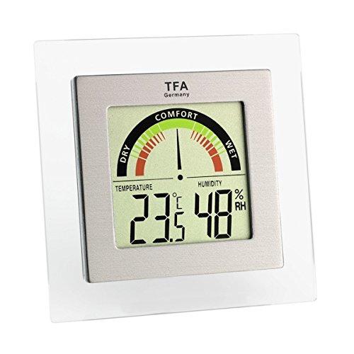 TFA Dostmann Digitales Thermo-Hygrometer, farbige Komfortzonen, gesundes Raumklima, Innentemperatur, Luftfeuchtigkeit