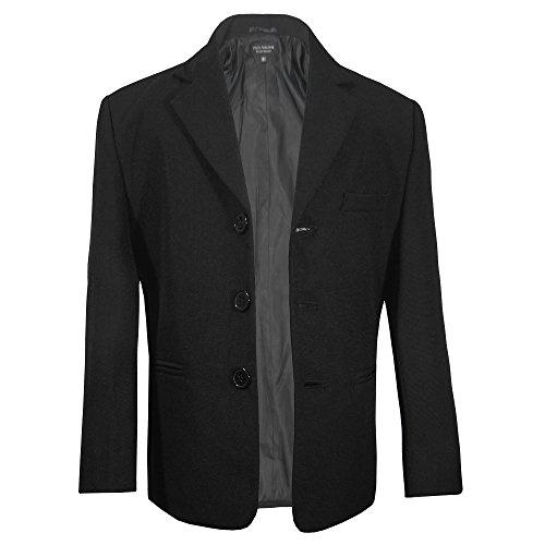 Paul Malone Jungen Sakko Anzugjacke Blazer schwarz - Kinder Anzug Jacke Gr. 158-164 (13-14 Jahre)