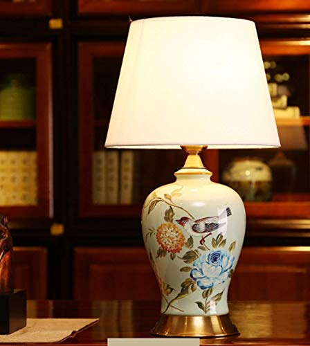 ZJZ Lámparas de pie, Nueva lámpara de Mesa de cerámica China, lámpara de Noche para Dormitorio, Sala de Estar, Luces de Escritorio de Mano