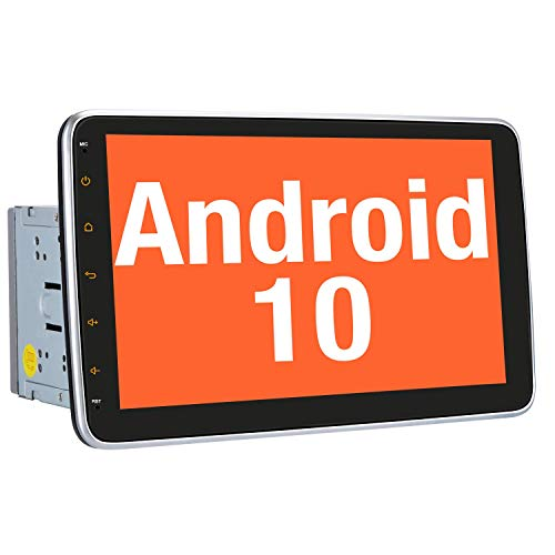 Vanku Android 10 Autoradio Moniceiver mit Navi 10 Zoll Bildschirm Unterstützt Qualcomm Bluetooth 5.0 DAB + Android Auto WiFi 4G USB MicroSD 2 Din Universal