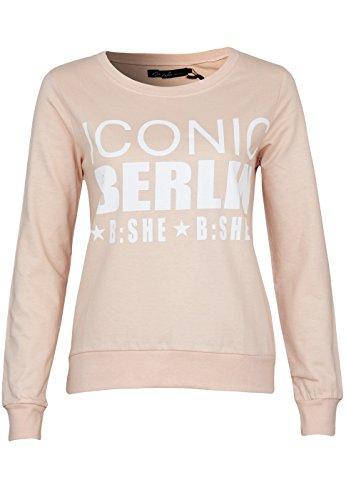 Blend Damen Berlin Sweatshirt, Rosa (Pink 20024 Tropical Peach), 34 (Herstellergröße: XS)
