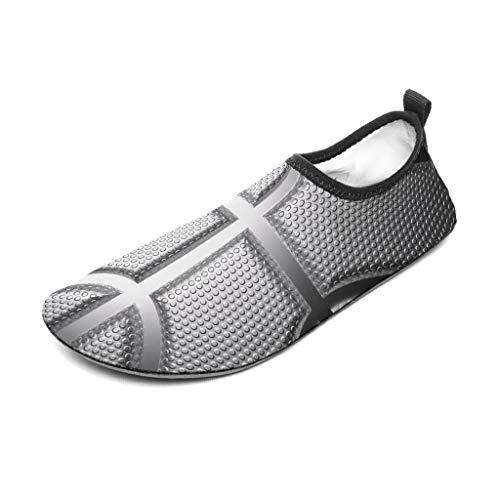 Bannihorse - Zapatillas de baloncesto unisex con textura de goma, para amantes del deporte, para la playa, color blanco 12 44/45