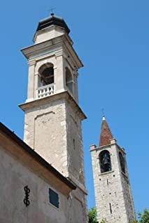Church Bell Towers in Bardolino, Italy Journal: Take Notes, Write Down Memories in this 150 Page Lined Journal
