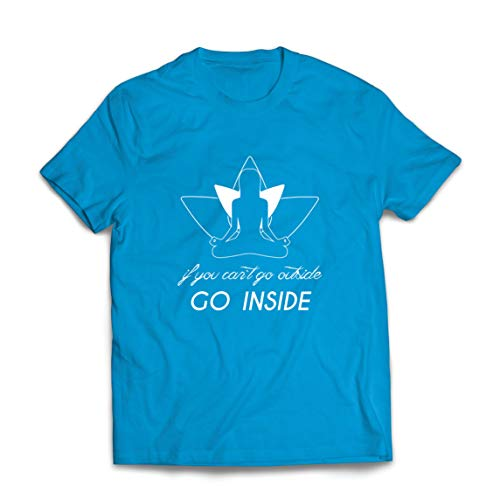 lepni.me Mannen T-shirt Go Inside Mantra Yogis Stay at Home Yoga Clothes