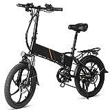 20 Pulgadas Bicicleta eléctrica Fest-nighj de Asistencia eléctrica Plegable Ciclomotor E-Bike 350W 10.4AH Batería Alcance de 80 km para desplazamientos de Compras de Fin de Semana