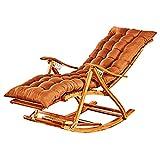 GOGUANG HAIYU- Klappbarer Liegestuhl, Garten-Sonnenliege mit Verstellbarer Rückenlehne, Ausziehbare Fußstütze, Hölzerne Liege Balkon-Liegestuhl, Stütze 250 Kg(Color:Stuhl+Matte)