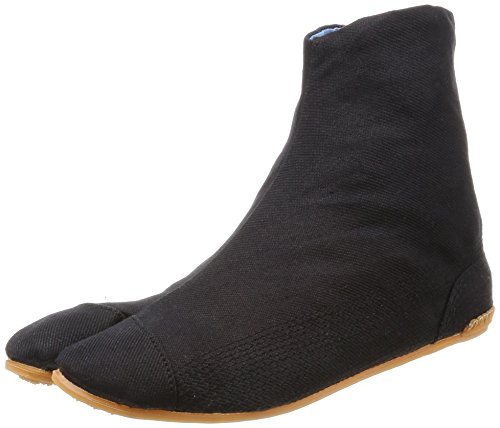 Rikio Ankle Ninja Boot Outdoor Tabi – Air TABI Fit 5 Clips, Unisex-Erwachsene, Air Tabi Fit, schwarz, 25.0cm JP