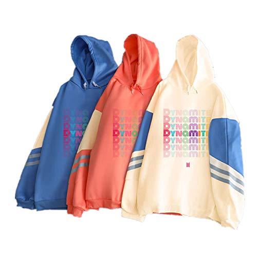 Fittrame Kpop BTS Dynamite Pullover Übergroßer Hoodie Lässige Unisex KPOP-Kleidung Hoodies Hooded Hoodie