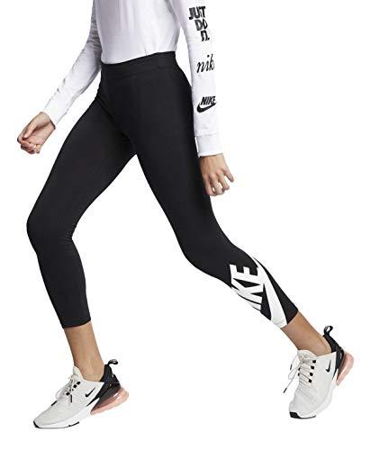 Nike Damen Sportswear Just Do It Leggings (Black/Sportswear Logo, Small)