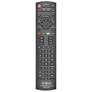 Gvirtue Universal Remote Control Compatible Replacement for Panasonic TV/ VIERA Link/ HDTV/ 3D/ LCD/ LED N2QAYB000485 N2QAYB000100 N2QAYB000221 N2QAYB00048