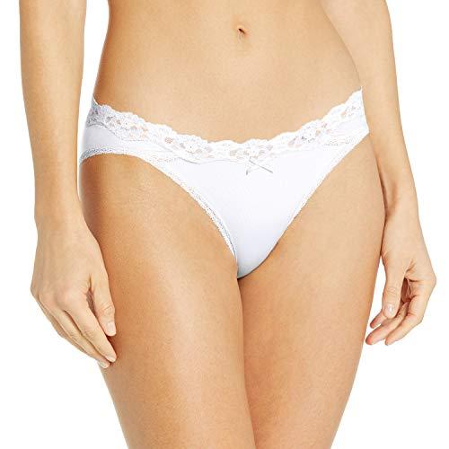 Maidenform Women's Sexy Must Haves Bikini Panty, White, Medium/6