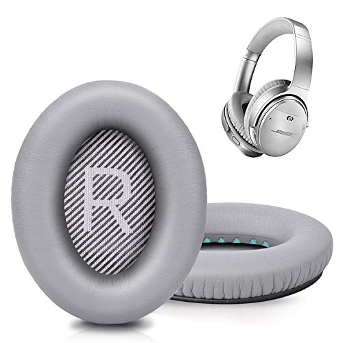 Premium Replacement Ear Pads for Bose QC35 & QC35ii Headphones Made by GEVO- Comfortable Adaptive Memory Foam and Extra Durable - Fits QuietComfort 35 & 35ii / SoundLink 1&2 AE(Over-Ear) (Silver)