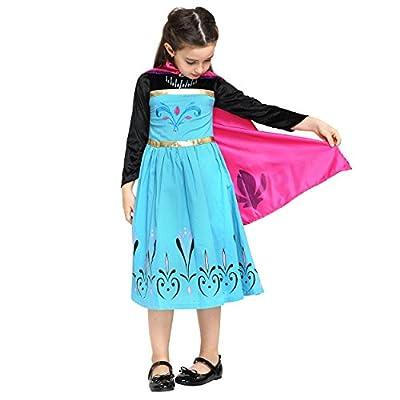 Frozen - Princesa Elsa, set con traje de disfraz y diadema para niños