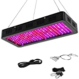 2000w LED Grow Light with Bloom and Veg Switch,Yehsence (15W LED) Triple-Chips LED Plant Growing Lamp Full Spectrum with Daisy Chained Design for Professional Indoor Plants