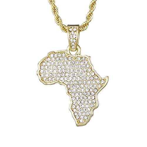 TIGOGA Karte Iced Out Kette Strass Kristall Gold/Silber Farbe Anhänger & Halskette Kette Für Männer/Frauen Geschenkschmuck