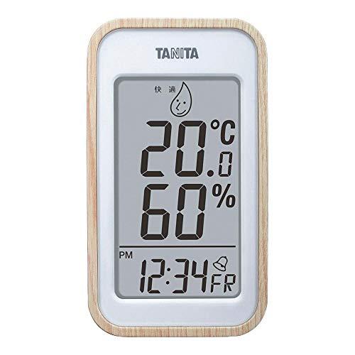 タニタ デジタル温湿度計 ナチュラル TT-572NA
