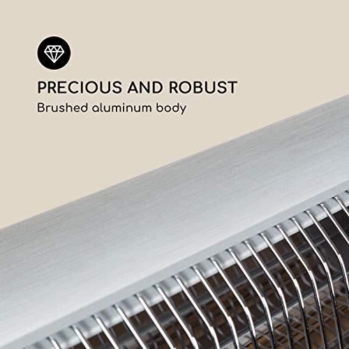 Blumfeldt Rising Sun • Infrarot-Heizstrahler • Carbon-Heizelement • gezielte Wärmeabgabe • Höhenverstellbarkeit von 70 cm • Stativ-Standfuß • 850 / 1650 / 2500 Watt Leistung • Abschalt-Timer bis 24 St. • LED-Anzeige am Gerät • Fernbedienung • Aluminium - 7