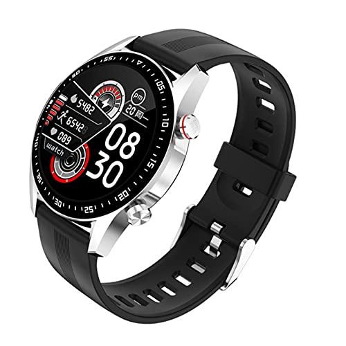 Smart Watch Men's Bluetooth Call Custom Dial Pantalla táctil Completa Reloj Inteligente Impermeable para Android iOS Deportes Fitness Pista E12,C