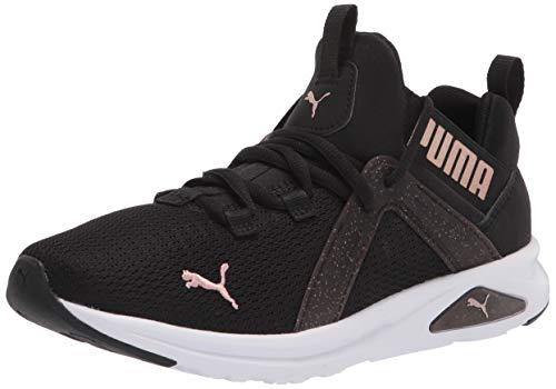 PUMA Women's Enzo 2 Running Shoe, Black-Rose Gold, 9