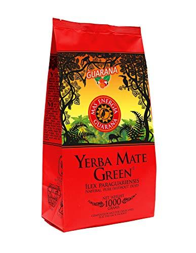 Yerba Mate Green 'Mas Energia Guarana' Brasilianischer Mate-Tee 1000g | fruchtiges Mate Tee | mit Guarana, Minzblatt, Zitronengras, Kornblumenblüten, Ringelblumenblätter und Mango-Aroma