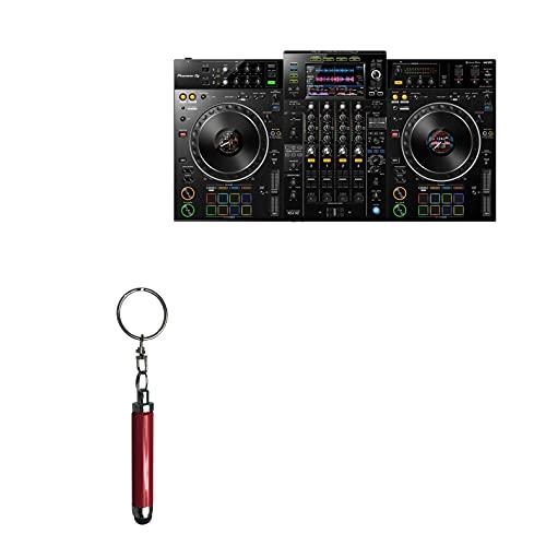 "Caneta Stylus Pioneer XDJ-XZ (7 polegadas), BoxWave [Caneta Stylus capacitiva] Mini caneta Stylus com alça para chaveiro para Pioneer XDJ-XZ (7"") - Rubi"