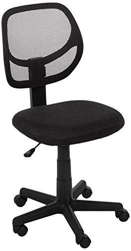 AmazonBasics Low-Back Computer Task Office Desk Chair with Swivel Casters - Black, BIFMA Certified