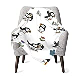 Baby Blanket Puffin Drawing Unisex Newborns and Toddlers Swaddle Blanket, Soft Breathable Comfortable Lightweight Warm-30 X 40 Inch